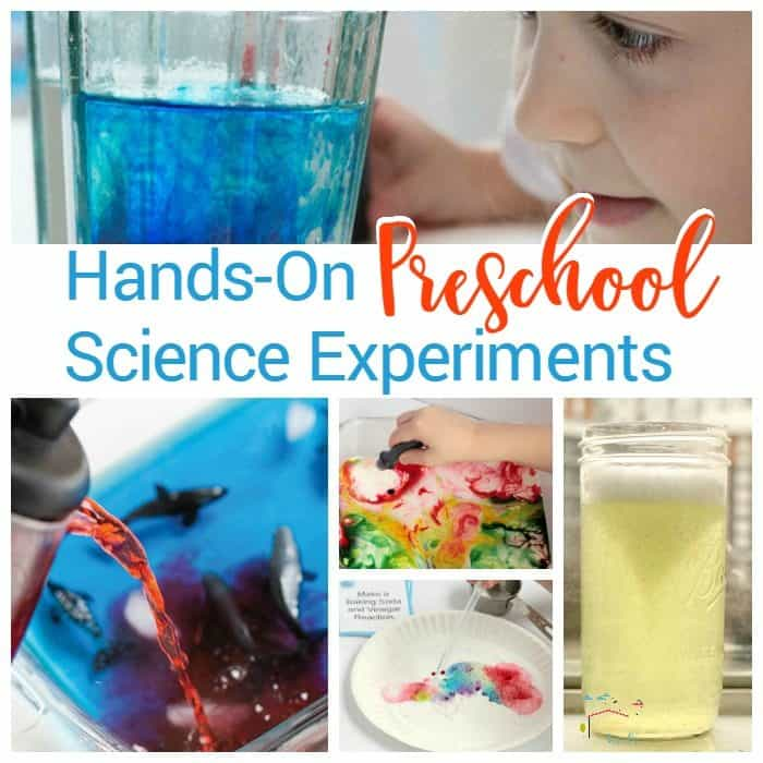 Little ones can do science too! These preschool science experiments are the perfect experiments to start learning science at the preschool level.