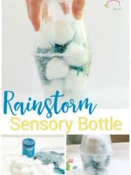 Rainstorm Sensory Bottles for Kids