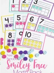 Smiley Face Mini Eraser Activity Pack for Preschoolers