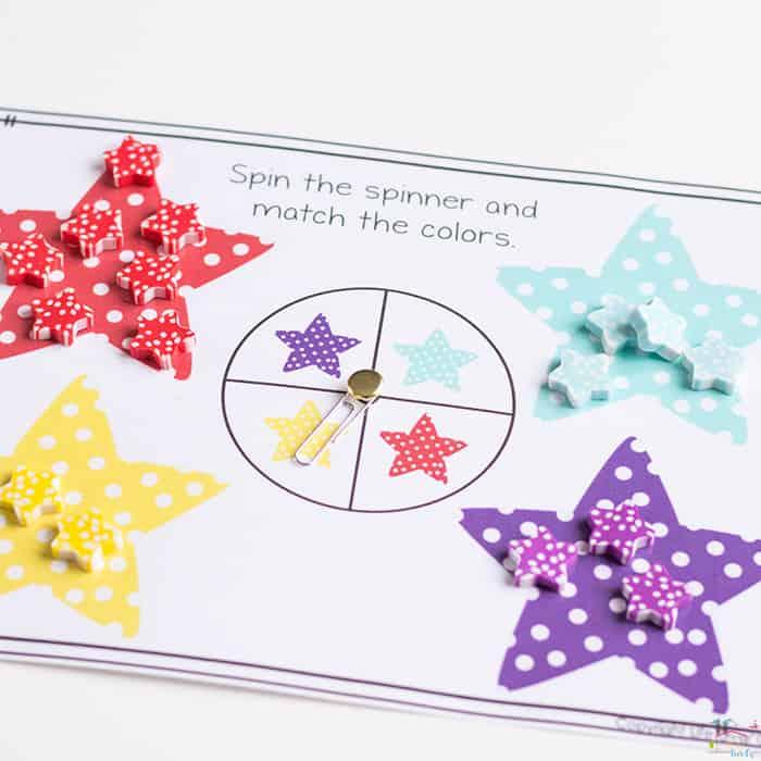 Polka Dot Star Mini Eraser Activities for Preschoolers