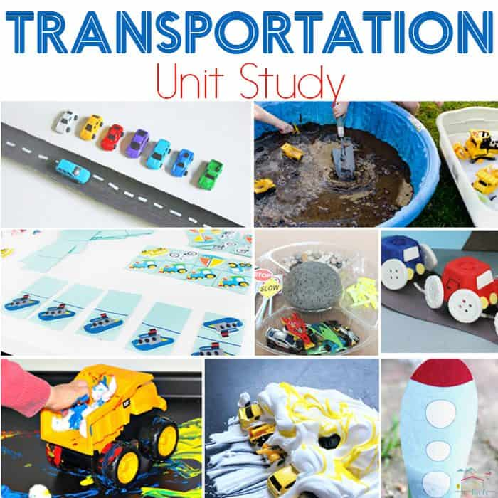 Learning about cars, boats, and buses can be interesting in itself, but doing a transportation unit study is bound to help your car lovers learn. Perfect for a transportation theme in preschool, kindergarten or elementary!