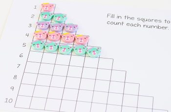 Count to 10 with mini erasers! These adorable Bear mini erasers from the Dollar Spot are so fun to learn with!
