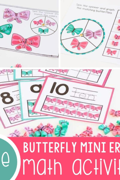 Butterfly Mini Eraser Math Activities Featured Square Image