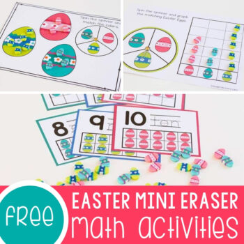 Easter Egg Mini Eraser Math Activities Featured Square Image