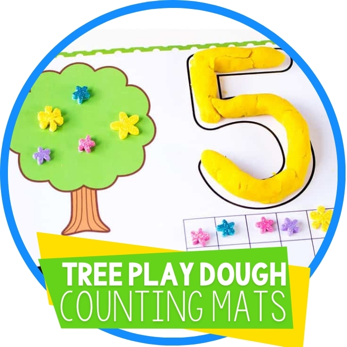 Free Tree Play Dough Number Mats Counting 1 to 10 Featured Image