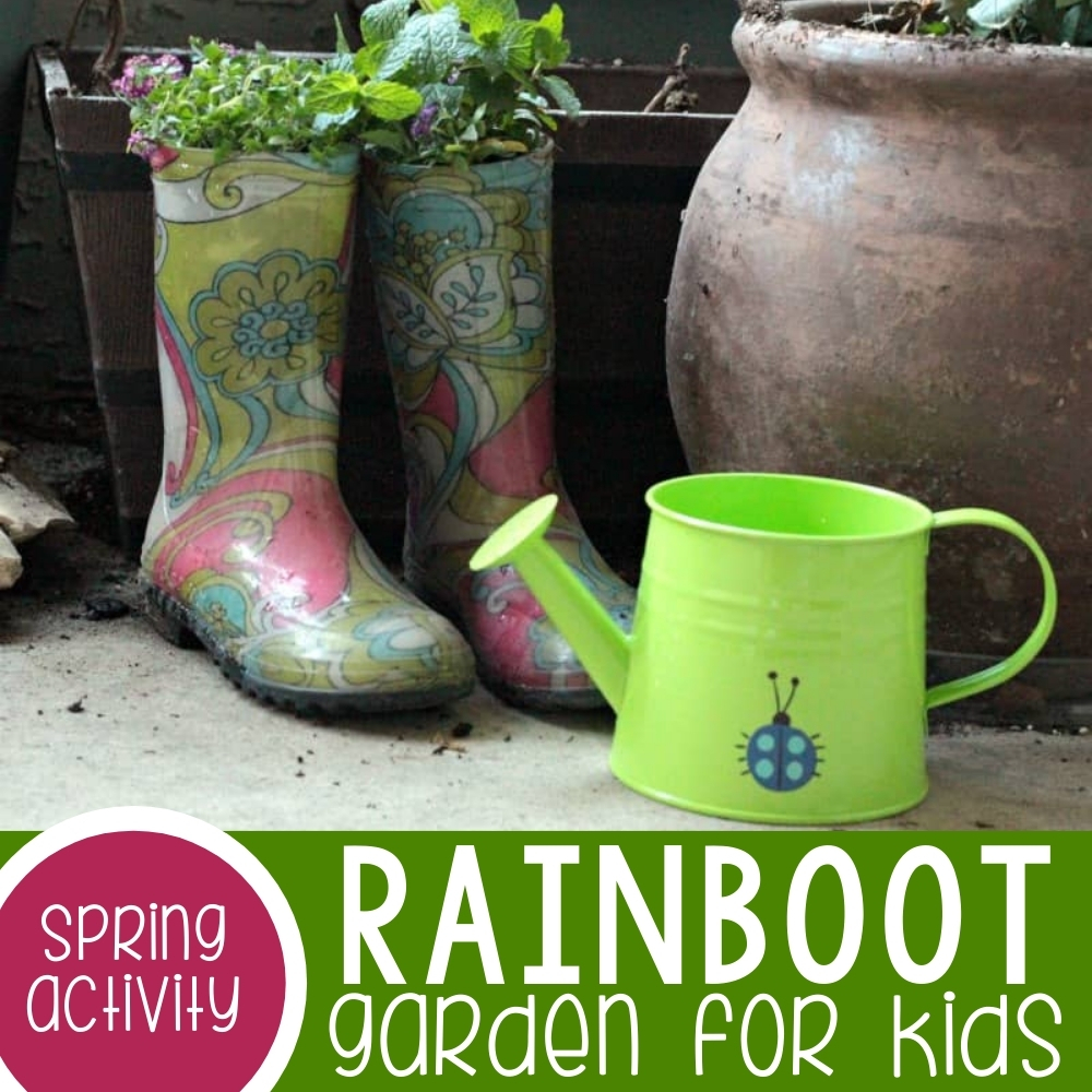 Rainboot Mini Garden for Kids