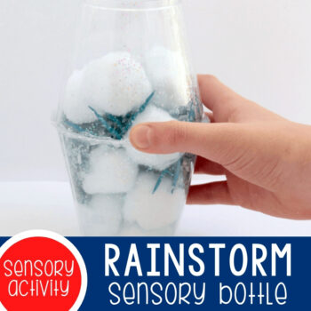 Rainstorm Sensory Bottles for Kids Featured Square Image