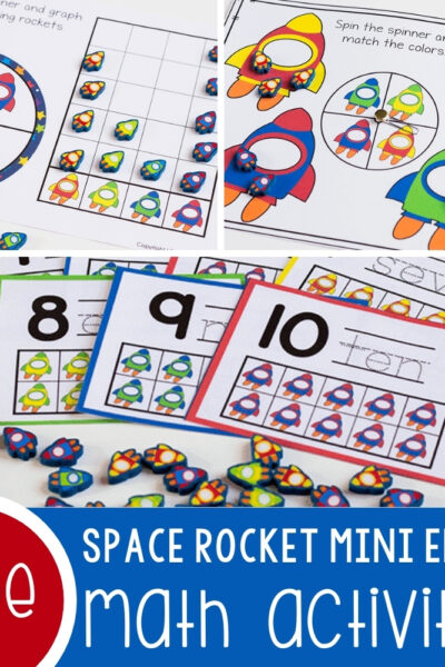 Space Rocket Mini Eraser Math Activities Featured Square Image