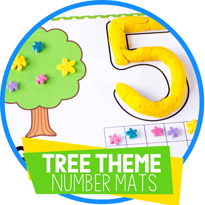 Tree Play Dough Number Mats for Counting to 10 Featured Circle Image