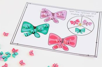Preschool math is fun with this free printable spring mini eraser math activity pack. Patterns, ten-frames, sorting and more! Kids will love these Butterfly mini erasers!