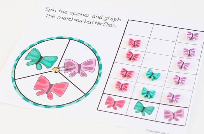Butterfly Mini Eraser Math Activities For Preschoolers
