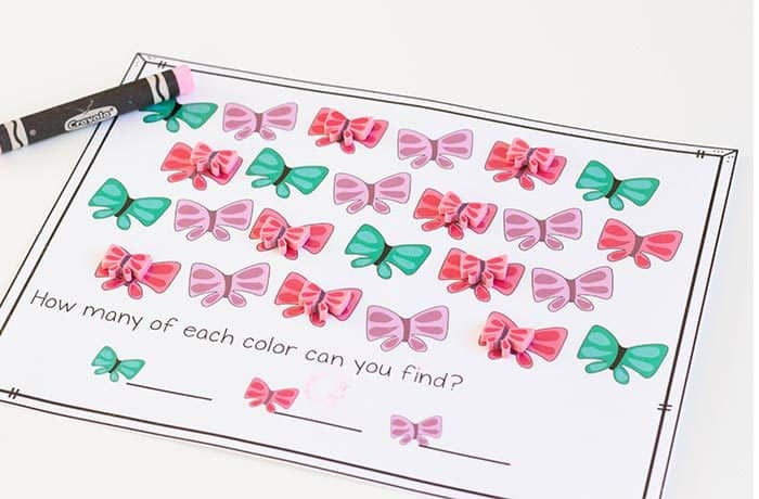 Preschool math is fun with this free printable butterfly mini eraser math activity pack. Patterns, ten-frames, sorting and more! Kids will love these Butterfly mini erasers!