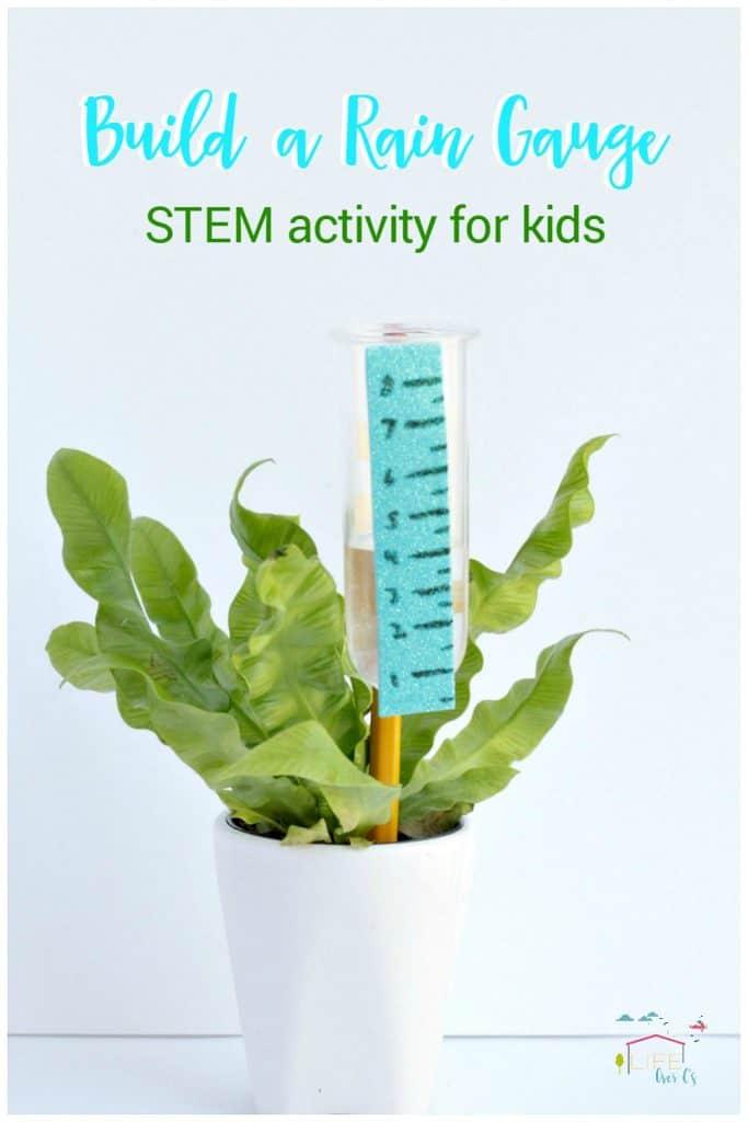 Build a Rain Gauge STEM Activity for Kids