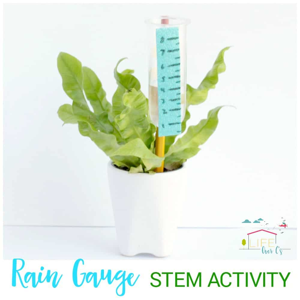 Build a rain gauge in this super fun weather-themed STEM activity for kids! Kids will love building a working rain gauge to measure rainfall!