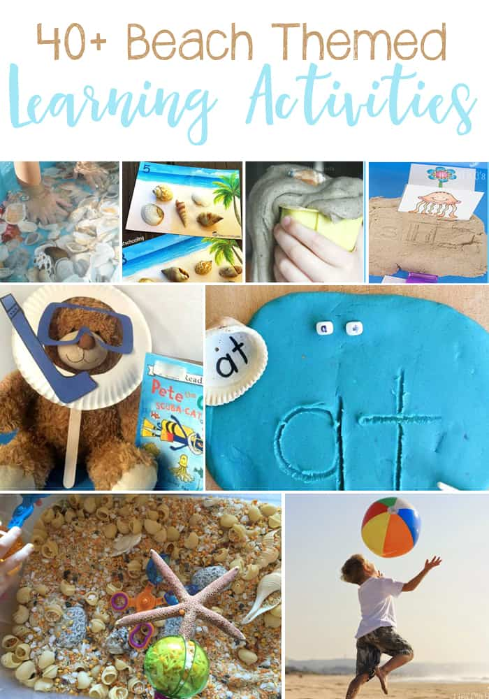 40+ Beach Themed Learning Activities For Kids: Math, Science, Literature, Art & Crafts, and Sensory. Great ideas for a Beach Unit Study.