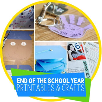 Preserving End Of The School Year Memories With Printables & Crafts Featured Image