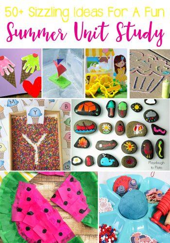 50+Sizzling Ideas For A Fun Summer Unit Study: Math, Literature, Art & Crafts, Sensory, and STEM.