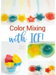 Color Mixing Ice: Preschool Science Activity