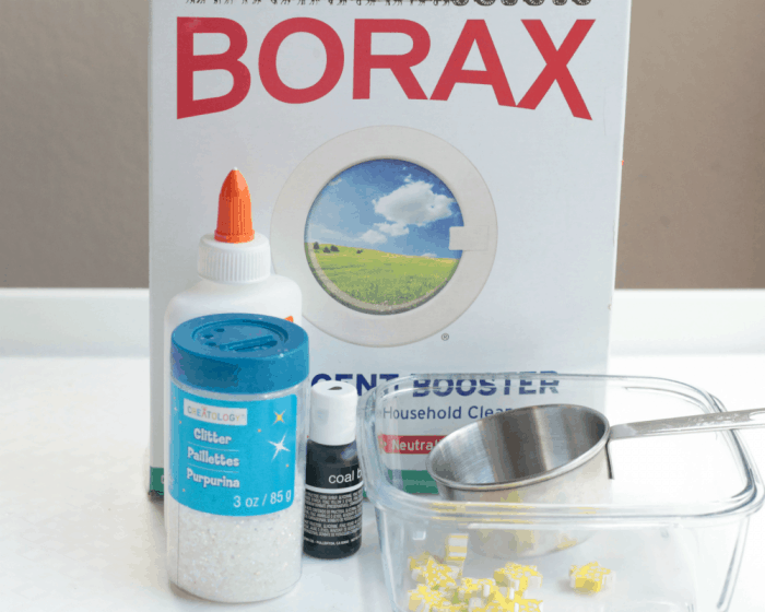 Make galaxy slime using this classic Borax powder slime recipe. Kids will love creating their own universe of slime with this simple slime recipe.