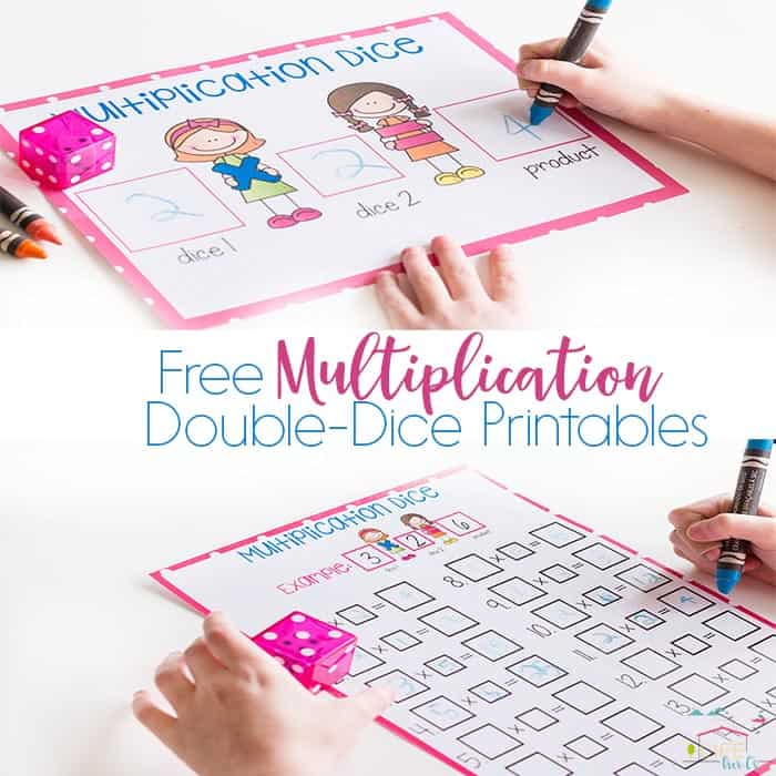 Free Printable Multiplication Dice Activity
