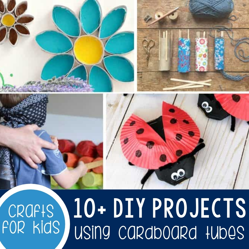 10+ DIY Cardboard Tube Ideas For Your Home & Kids