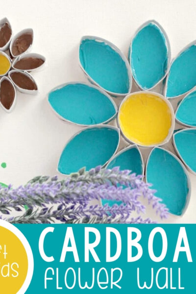Easy Flower Cardboard Tube Wall Art Featured Square Image