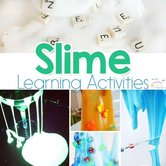 These slime learning activities are ooey gooey and squishy but also help teach an educational lessons like ABCs, sight words or opacity. Kids will go crazy over these!