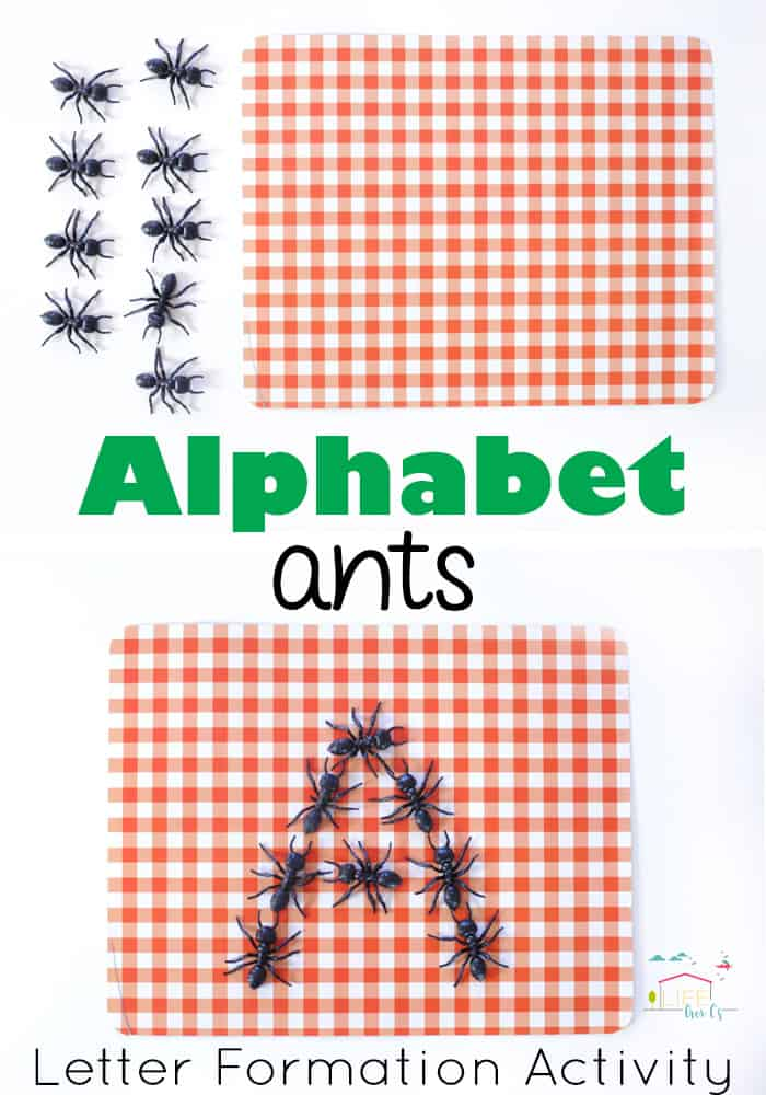Alphabet Ants Letter Formation Activity