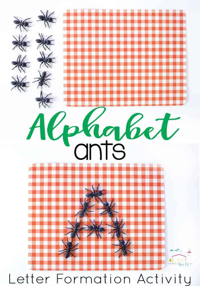 Use Pretend Ants To Set Up This Simple Letter Formation Activity Or Preschoolers