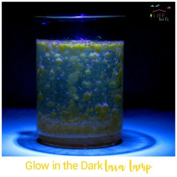 Make a glow in the dark lava lamp and learn about science at the same time in this fun summer science activity for kids! Tons of educational fun!