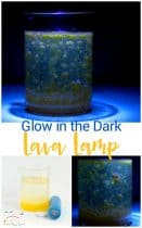 Make a glow in the dark lava lamp science experiment for kids