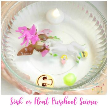 Preschoolers will love this hands-on sink or float science activity! Play with water and learn all about the density of objects at the same time!