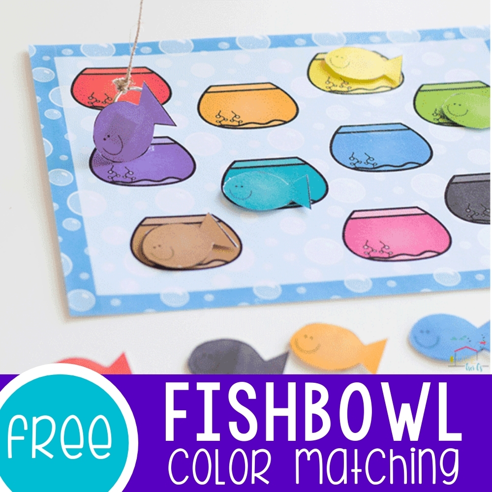 Color Matching Fishbowl Printable Featured Square Image