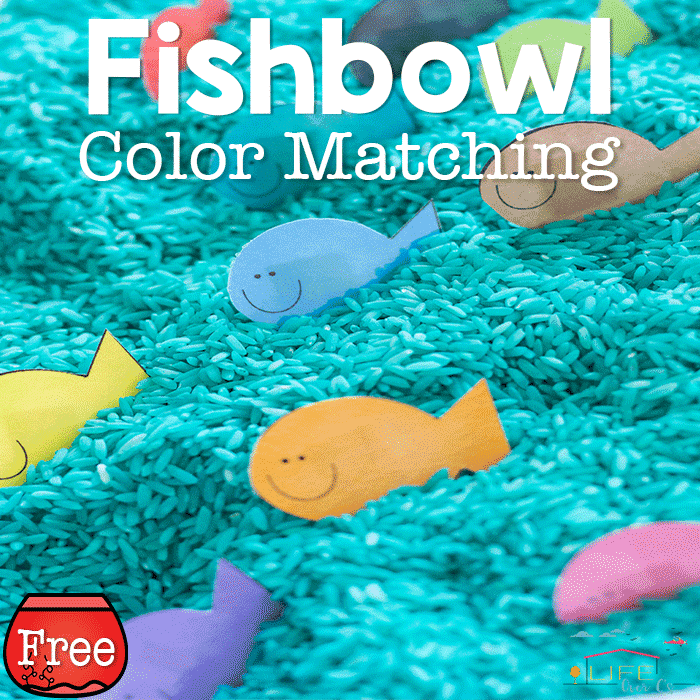 Free Color Matching Fishbowl Printable for Preschoolers