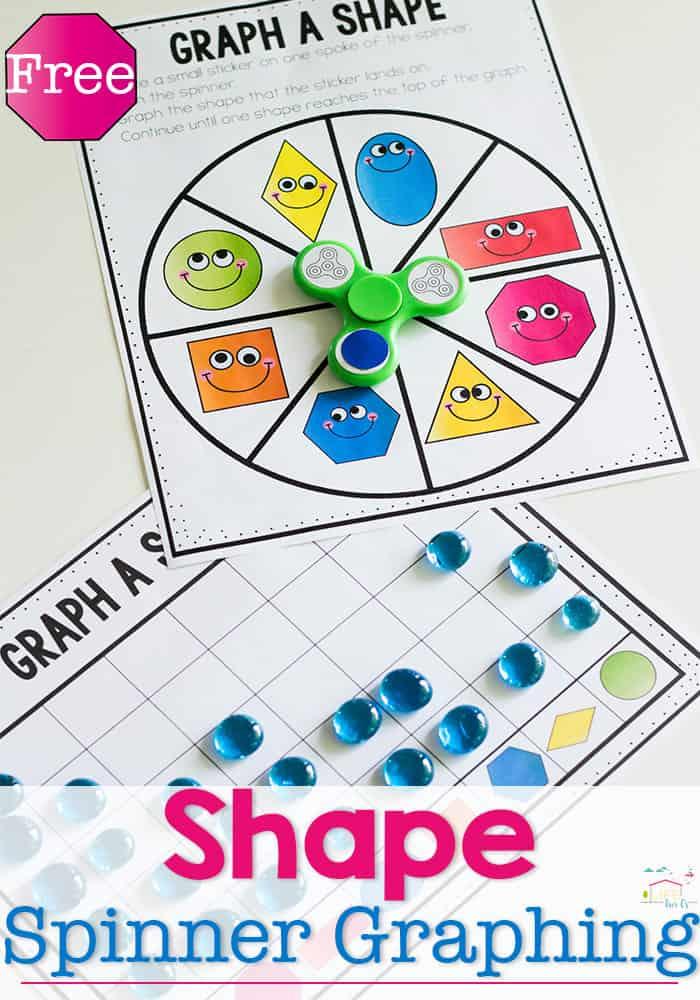 Fidget Spinner 2D Shape Graph Free Printable
