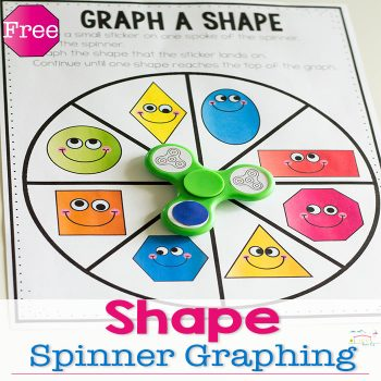 This fidget spinner 2D shape graph free printable is a great way to learn about 2D Shapes, graphing and do lots of spinning! Make math fun for your kindergarteners with this low-prep printable.