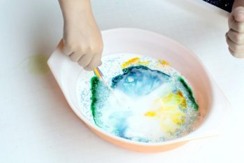If you love simple science activities, you'll love the magic milk science experiment, a lesson in chemistry and chemical bonds.