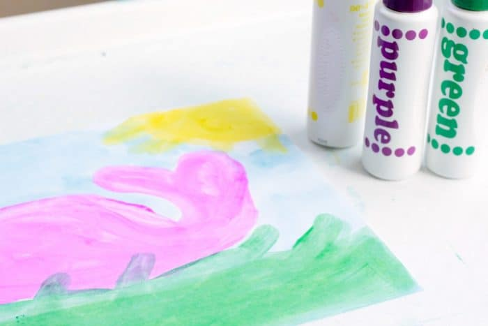 The magic mystery paint STEAM activity is a fun way to combine art and science! Learn about how invisible ink works in this fun STEAM activity for kids!