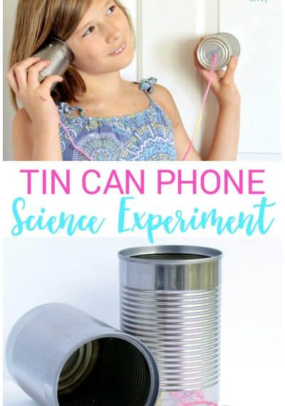 Tin Can Phone simple science experiment for kids