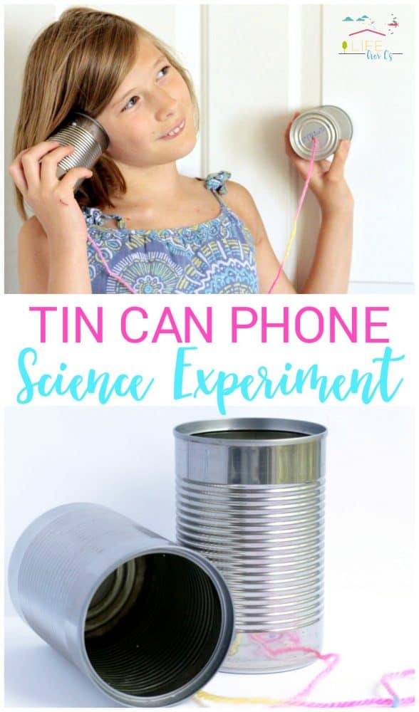 Keep your kids learning with a tin can telephone lesson on sound wave science! Hands-on science is the best way to get scientific concepts to stick!