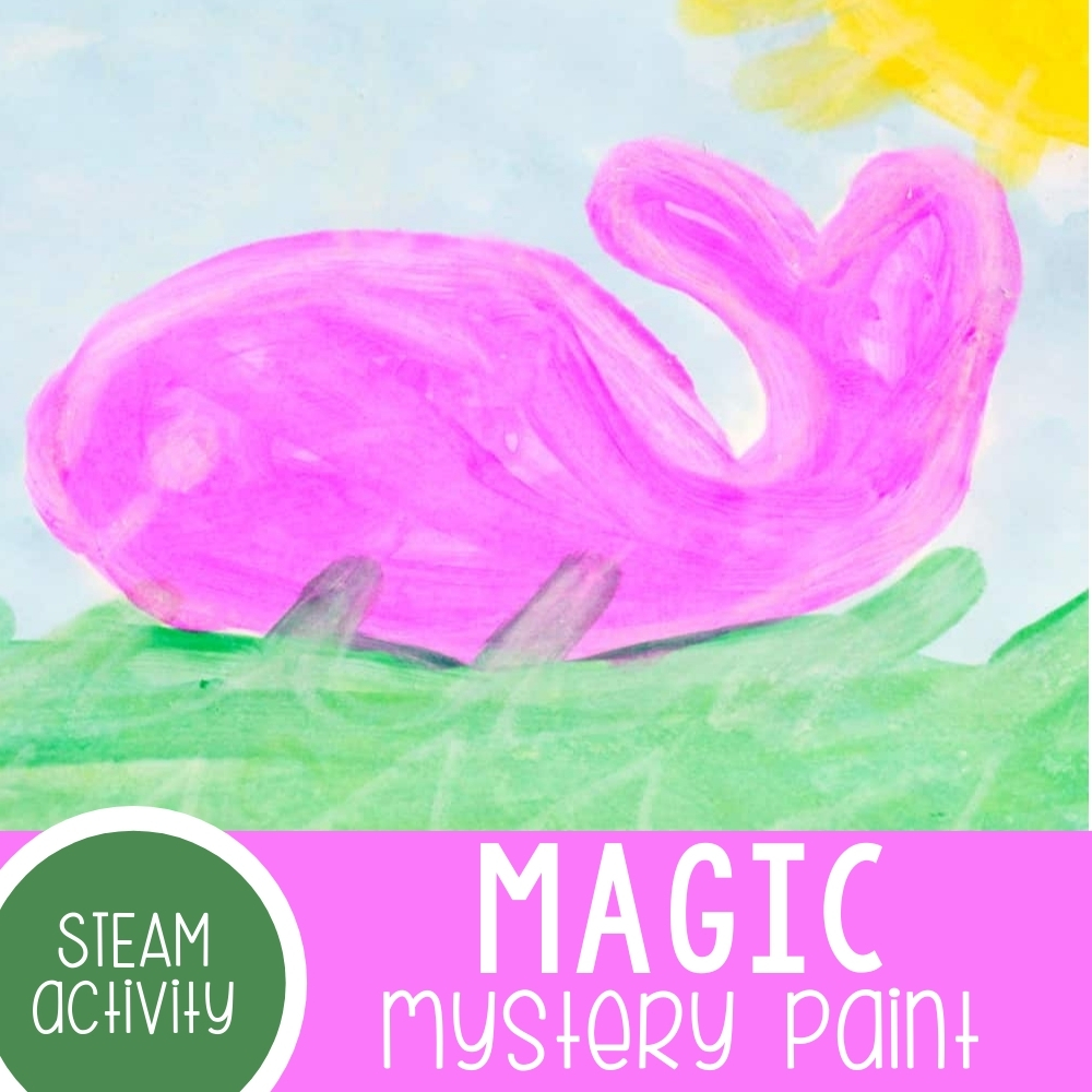 Magic Mystery Paint STEAM Activity for Kids
