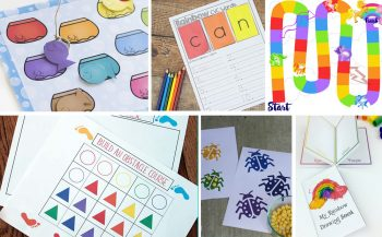 Fun and Free Rainbow Printables To Help Encourage Your Children To Learn & Play