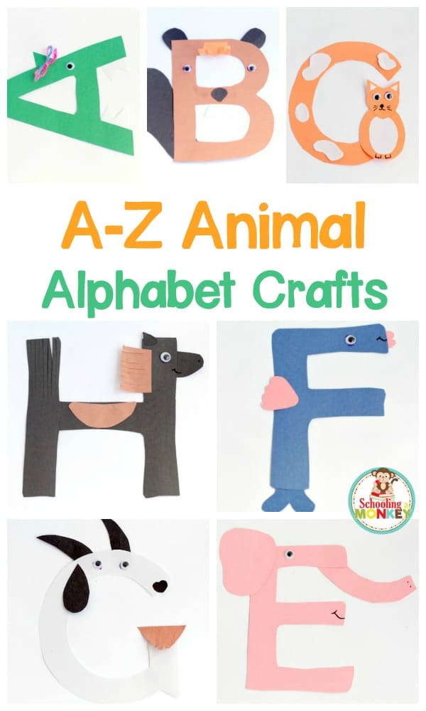 Use these fun ABC crafts to teach preschool and kindergarten kids about their letters! These fun crafts are perfect for letter of the week activities!