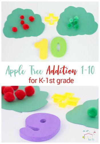 Apple Tree Addition Activity for Kindergarten