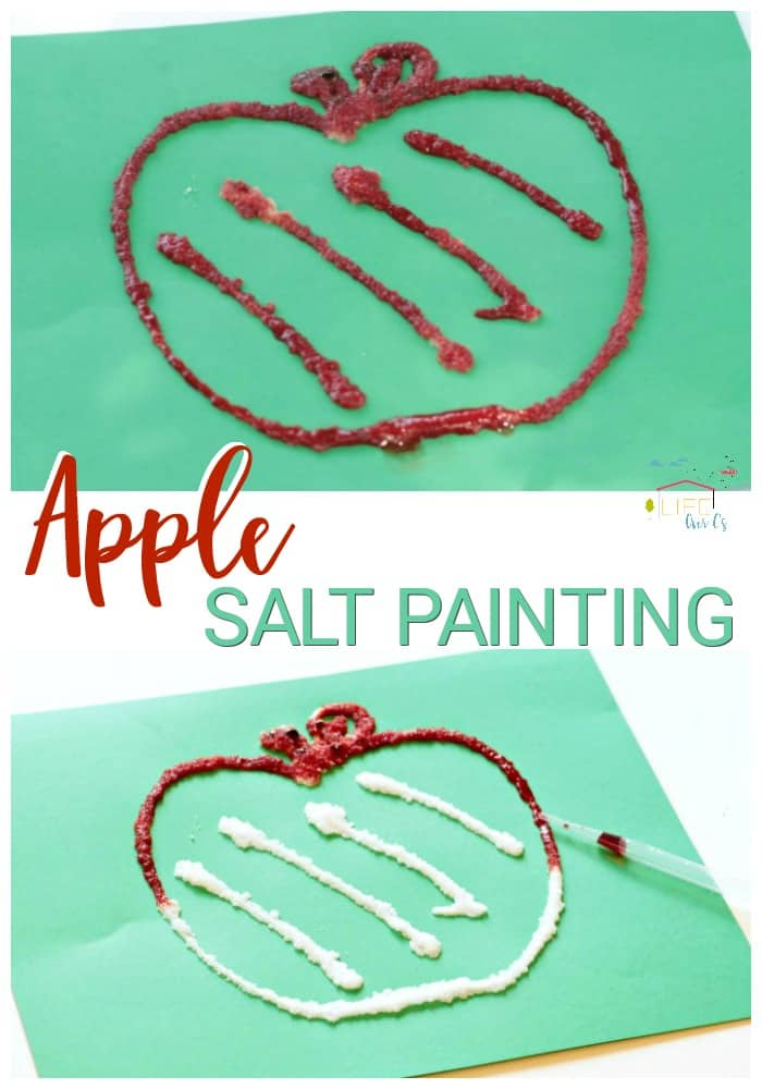 Raised Apple Salt Painting