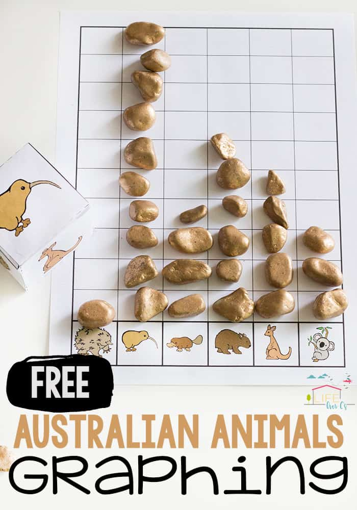 Practice graphing skills with this free printable Australian Animal graphing activity for preschoolers and kindergarteners. Great for math centers!