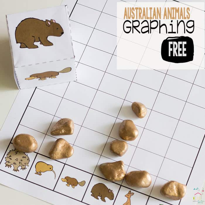 Australian Animals Graphing Printable