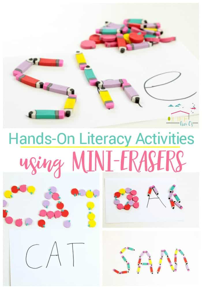 Hands-on Literacy Activities with Mini Erasers