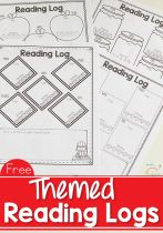 Get Free Scholastic Books + Free Printable Themed Reading Logs