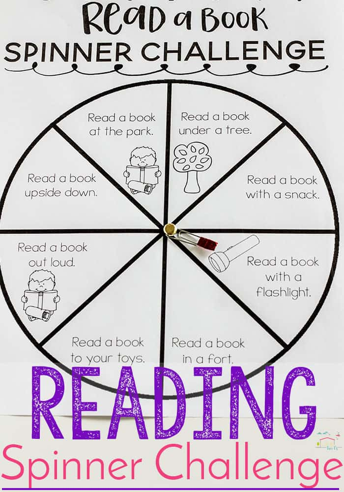 Fantastic Scholastic Book Giveaway + Printable Spinner Reading Challenge